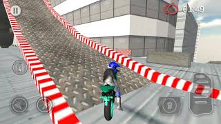 Bike Racing On Roof - most exciting bike stunts game - Gameplay Android game