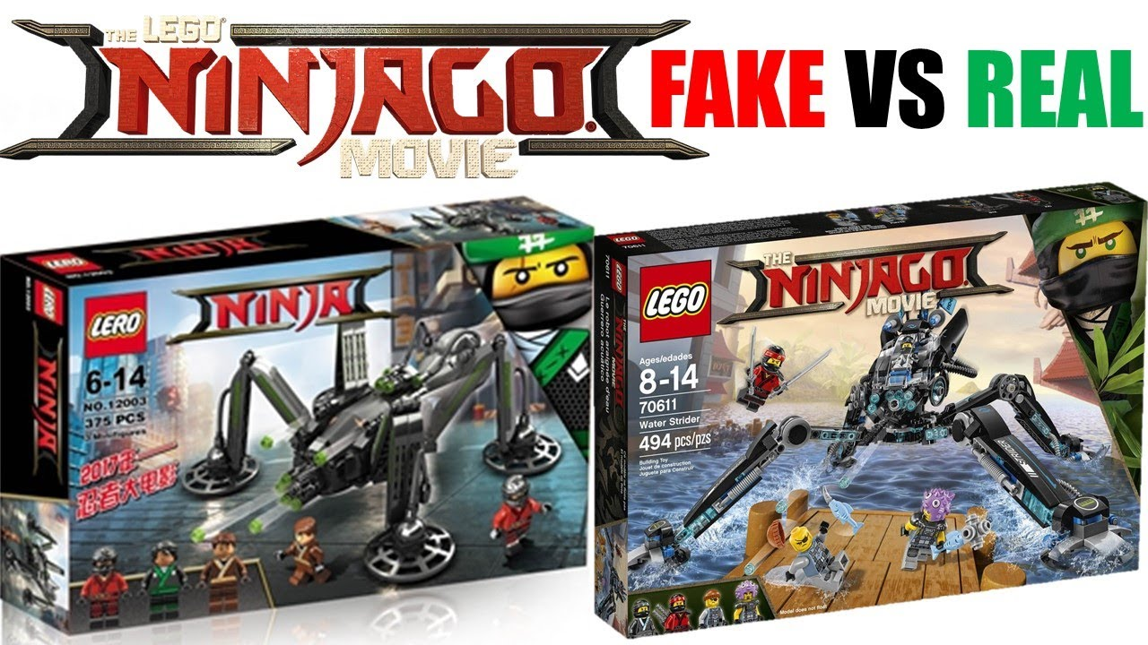 Lego ninjago movie fake sets vs real sets youtube - Ninjago vs ninjago ...