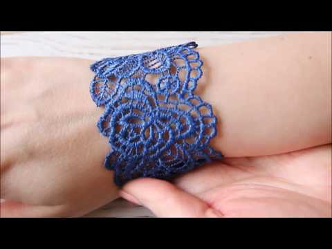Lace bracelet tutorial and jewelry kit review - YouTube