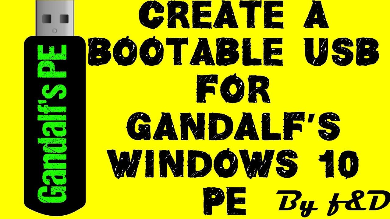 how to create windows pe
