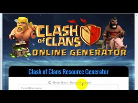 2017- ( Feb) Clash Of Clans Working Online Generator No Root No Generate 100% Safe