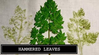 Hammered Leaves Craft Technique Video by Craft Jitsu Online Class