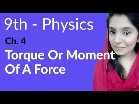 Torque or Moment of a Force - Physics Chapter 4 Turning Effect of Forces - 9th Class