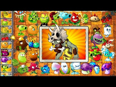 Every Plant Power-Up! vs JURASSIC BULLY in NEW Plants vs Zombies 2