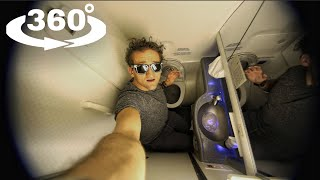 360 Camera in an AIRPLANE BATHROOM