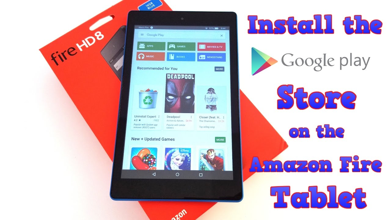 Amazon Fire Tablet Google Play Store