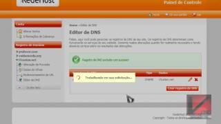 Como editar registros de DNS (RedeHost). (HD)