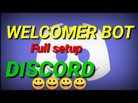 how to set up welcomer bot in discord - Myhiton