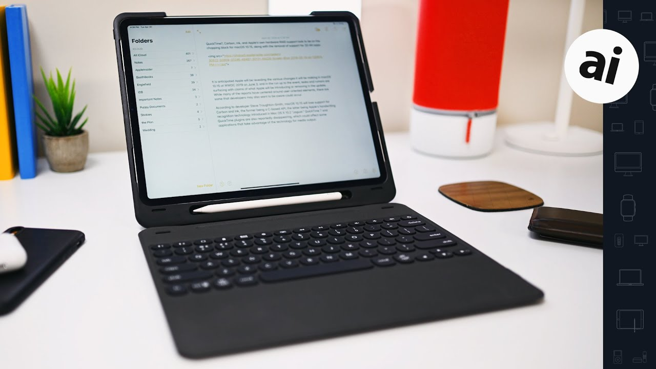 bd81967a6af Review: Zagg Slim Book Go for iPad Pro adopts a detachable Bluetooth  keyboard