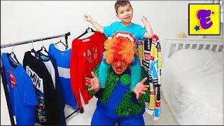 Егорка и КАРЛОС Меряют ОДЕЖДУ Папы !!!