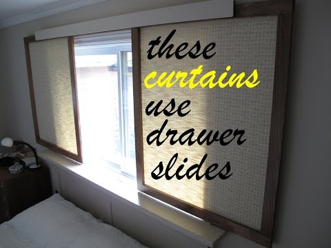 How to make ● gliding fabric panels instead of curtains
