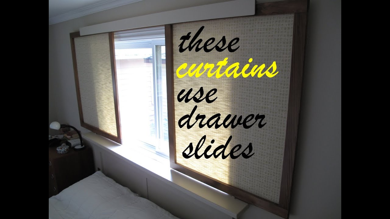 how to make gliding fabric panels instead of curtains youtube