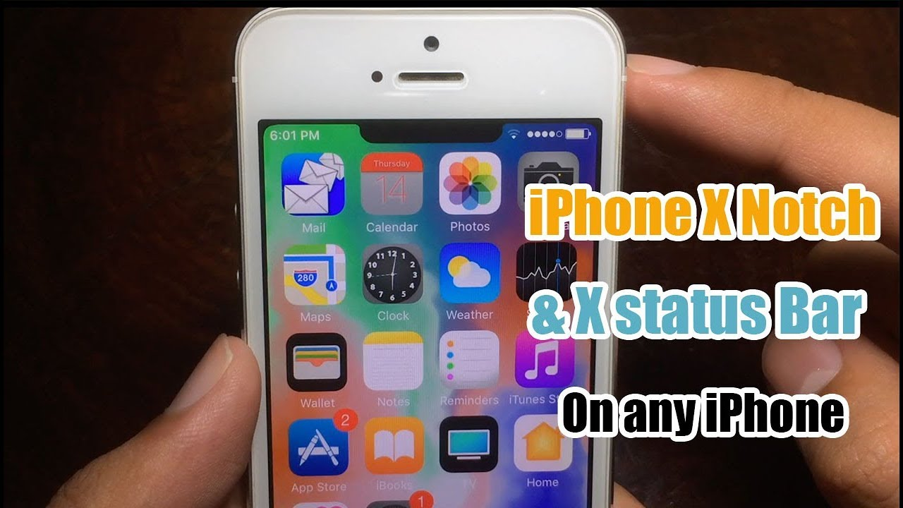 Get Iphone X Status Bar Notch On Any Iphone