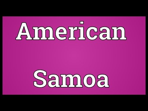American Samoa Meaning