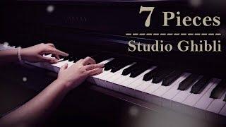 7 beautiful studio ghibli pieces | relaxing piano [15min]