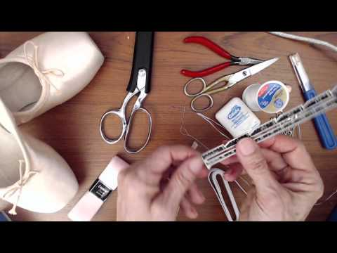 Sewing Your New Pointe Shoes