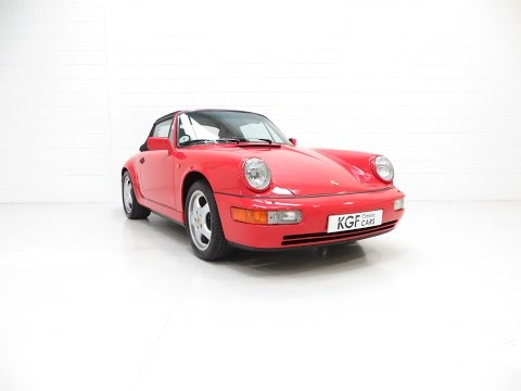 An Outstanding Porsche 964 Carrera 2 Cabriolet with Just 16,827 Miles and One Owner. £79,995