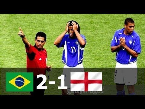 Бразилия - Англия 2-1 - Обзор Матча Четвертьфинала Чемпионата Мира 21/06/2002 HD