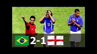 Бразилия Англия 2 1 Обзор Матча Четвертьфинала Чемпионата Мира 21 06 2002 HD