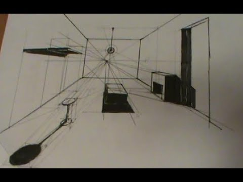 Sombras de habitaci n en una perspectiva c nica frontal youtube - Habitacion en perspectiva conica ...