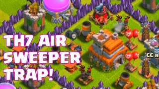 Clash Of Clans Townhall 7 Air Sweeper Base Layout | TH7 Trophy And Farming Base Anti Air