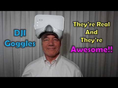 Hands On With the DJI Goggles - They're Real and They're Amazing!