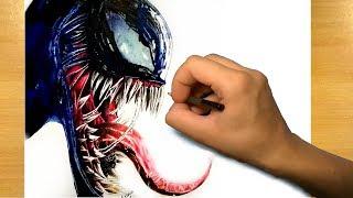 Drawing Venom - Marvel