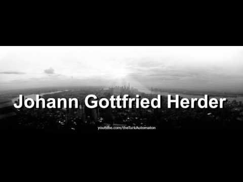 How to pronounce Johann Gottfried Herder in German