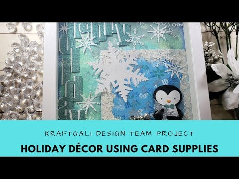 Holiday Decor Project using Cardmaking Supplies
