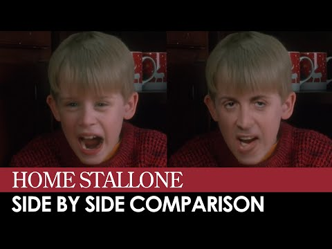 Home Stallone - Side by side deepfake comparison