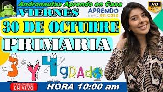 ⚡ APRENDO EN CASA PRIMARIA 3 Y 4 GRADO ???? VIERNES 30 DE OCTUBRE TV PERÚ