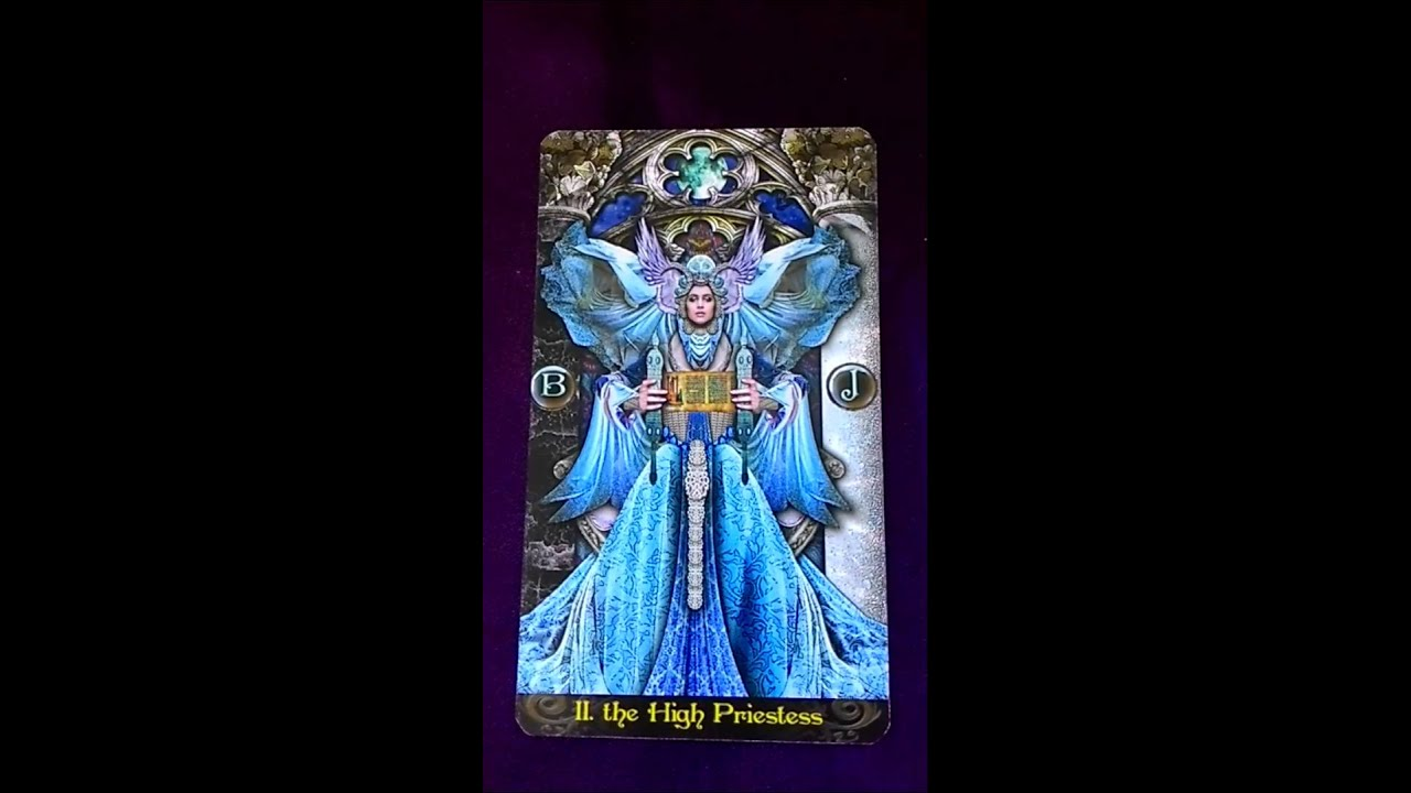 High Priestess Full Colorful Deck Major Stock Illustration: Weekly Tarot Reminder