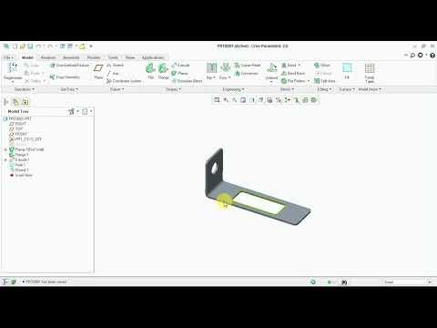 Creo Sheet Metal Design, Design  And Detailing Tutorial - 09