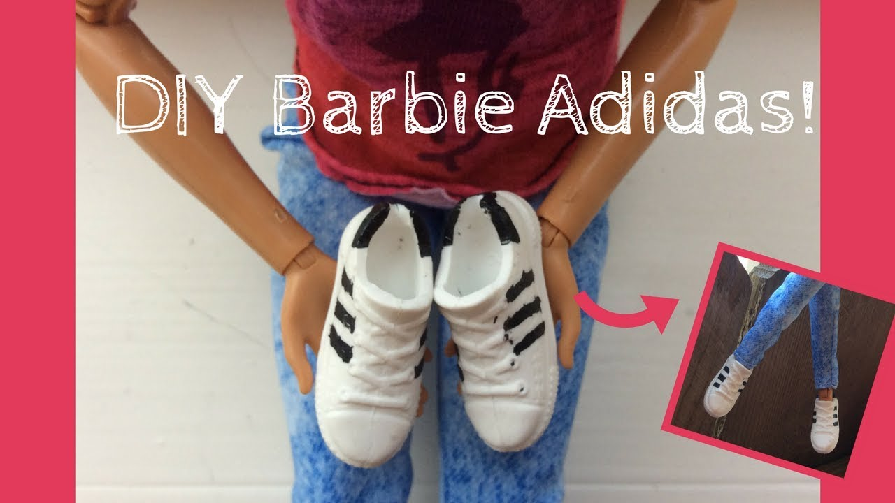 DIY Barbie Adidas shoes!
