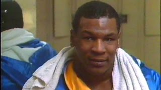 Young Mike Tyson at 16 Talks Trains with Cus D
