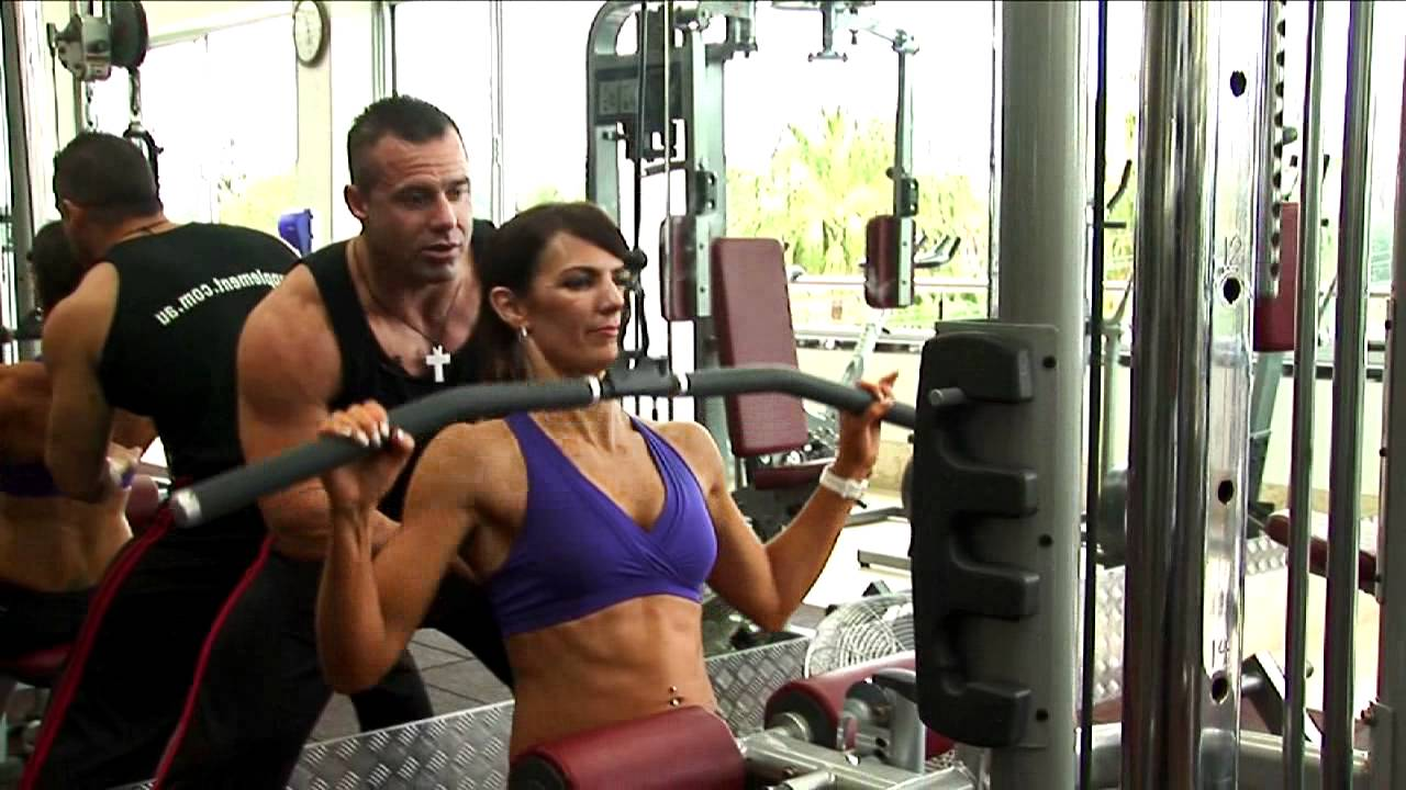 Ladies Wide Grip Lat Pull Down Exercise - YouTube