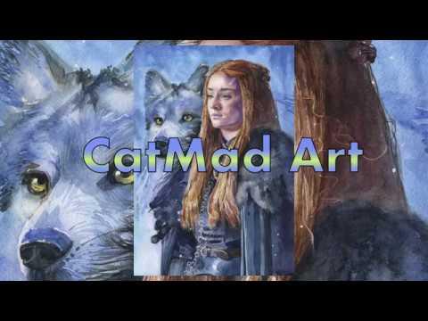 Sansa Stark (Sophie Turner)Game of Thrones - watercolor/Санса Старк- акварельная живопись