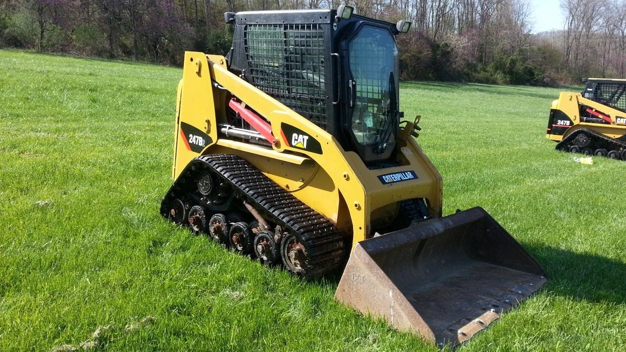 2008 Cat 247b2 Track Skid Steer Loader Youtube