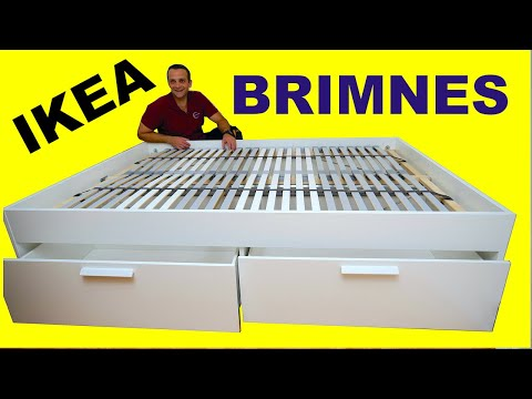 Ikea Brimnes Bed Frame With Storage, Ikea Bed Frame With Storage Brimnes
