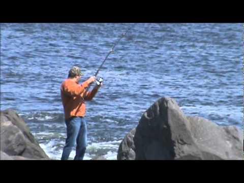 Playing at Ocean Shores, WA.  North Jetty