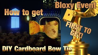 How to get the DIY Cardboard Bow Tie prize - FIRST TO GET | Bloxy Event (The 6th Annual Bloxys)
