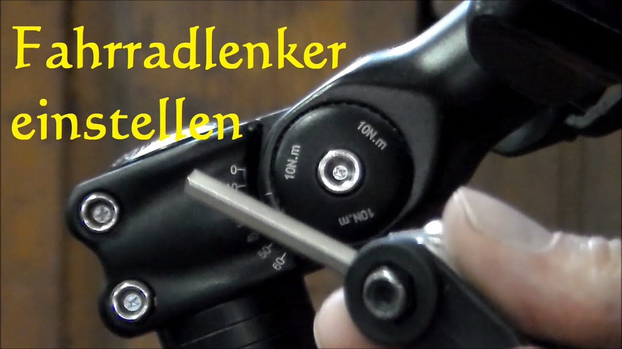 tutorial fahrradlenker einstellen fahrrad lenker neigung. Black Bedroom Furniture Sets. Home Design Ideas
