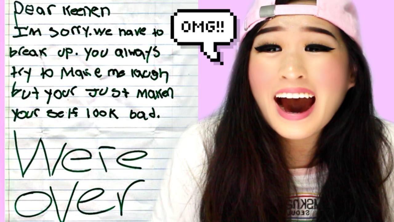 The Funniest Kid Break Up Letters Youtube