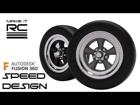 1/24 Scale American Racing Torq Thrust Wheel Speed Modeling