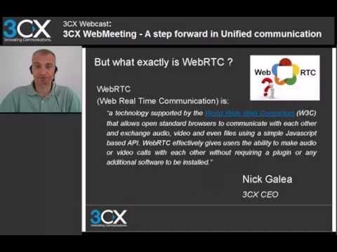 3CX Basic Training: 6 0 3CX WebMeeting v12 5