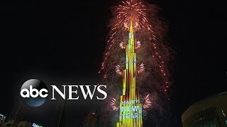 New Year's fireworks in the United Arab Emirates