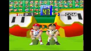 Famista 64 - Pooka Inflation Minigame (Family Stadium 64)