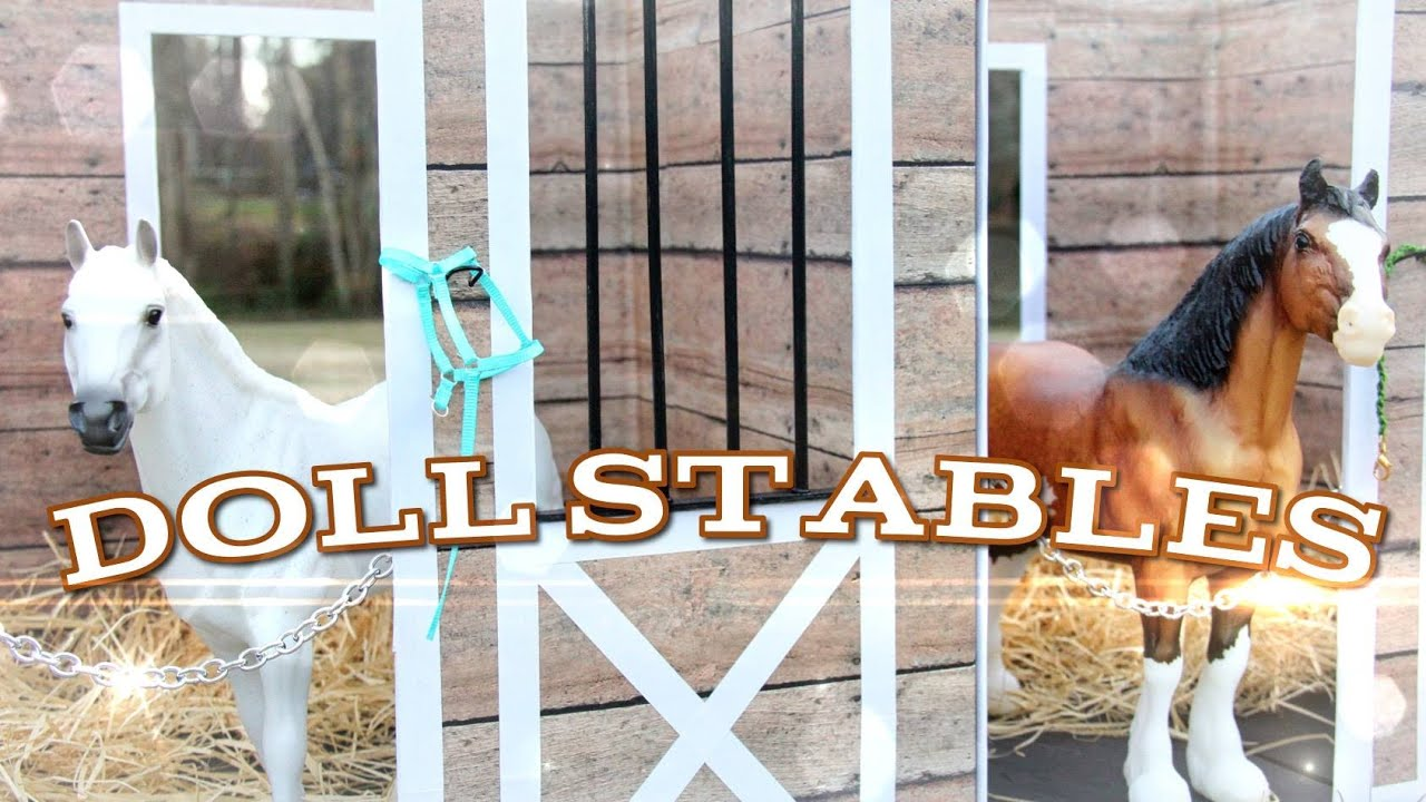 Diy how to make doll stables handmade doll crafts youtube solutioingenieria Image collections