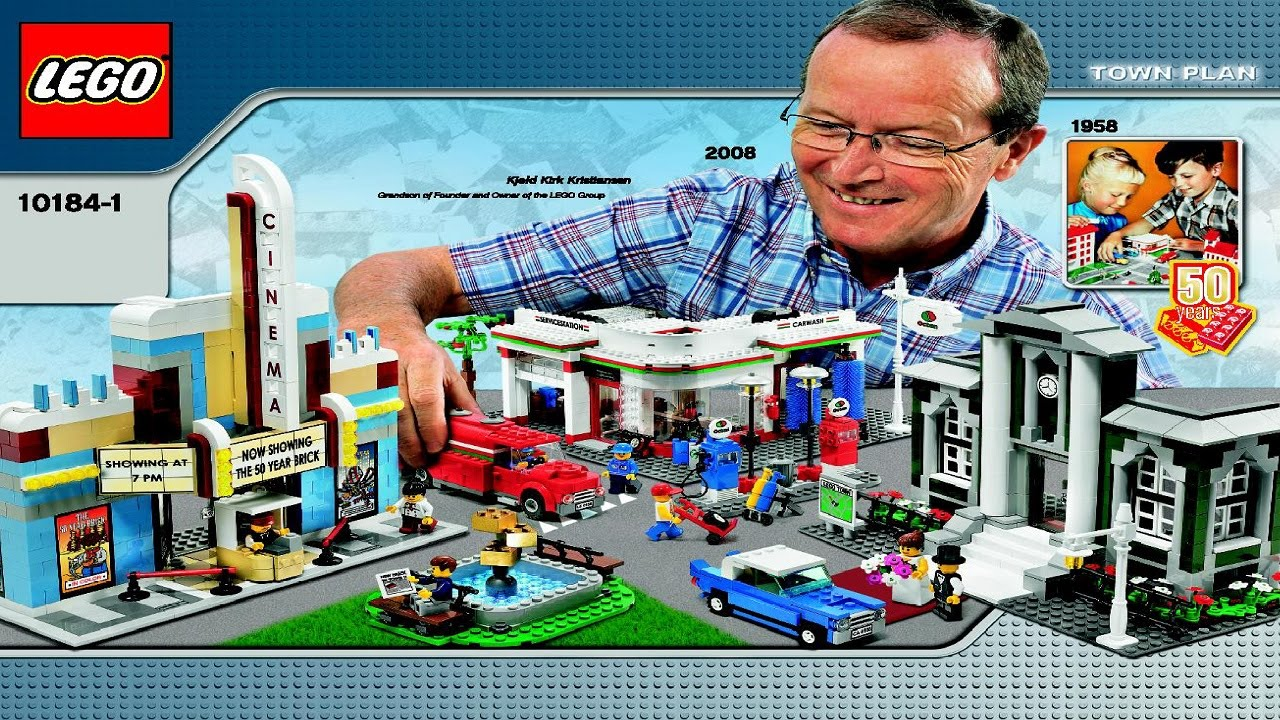10184 Lego Town Plan Creator Expert Instruction Booklet Youtube