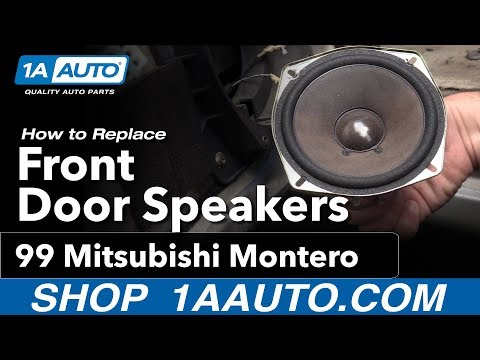 How to Replace Front Door Speakers 92-99 Mitsubishi Montero